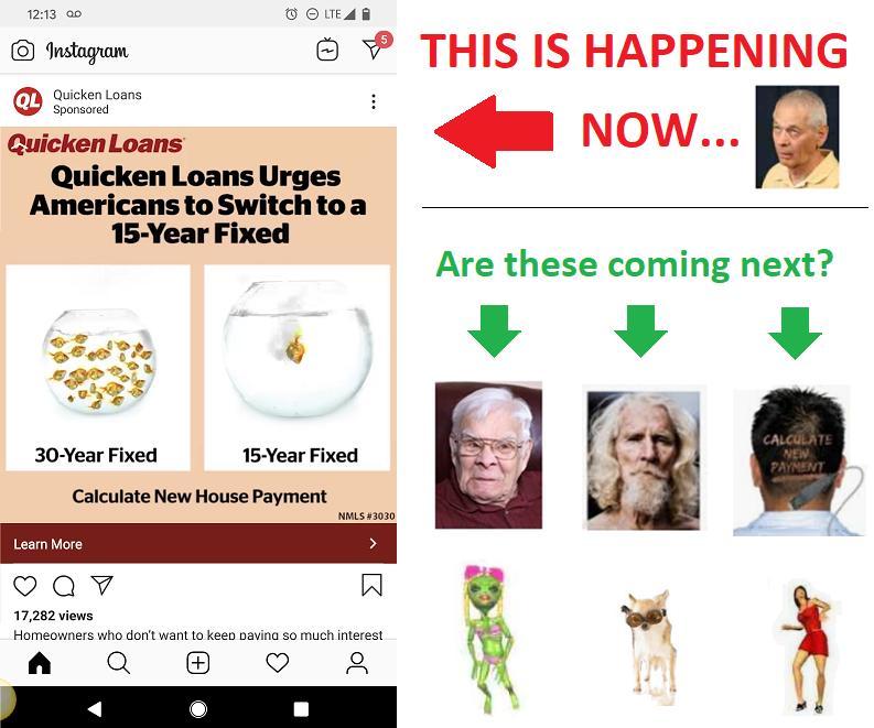 Hey Quicken Loans: Your LowerMyBills is showing!